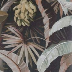 Soft and elegant tropical wallpaper, this design was made for an elegant dining room in a coastal chic home! Palm Wallpaper, Tropical Wallpaper, Holly Hunt, Elegant Dining Room, Embossed Paper, Google Analytics, Old Hollywood Glamour, Designer Wallpaper, Light In The Dark