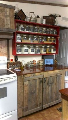 10 Tips on How to Build the Ultimate Farmhouse Kitchen Design Ideas Country kitchen decor Rustic Kitchen Cabinets, Rustic Kitchen Design, Farmhouse Kitchen Decor, Kitchen Redo, Kitchen Remodel, Kitchen Ideas, Farmhouse Style, Wood Cabinets, Country Style