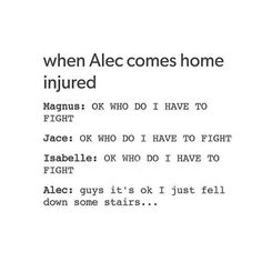 Except I can't really see Alec falling down some stairs..unless he was pushed.