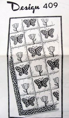Butterfly and Tulip Quilt Pattern Laura by OnceUponAnHeirloom