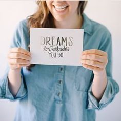 Dreams can happen, but it's gonna take some hustle + heart. You ready?