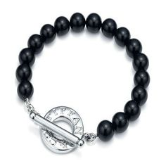Tiffany & Co Black Beads Toggle Bracelet - Click Image to Close