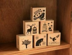 Beautiful Design Best Price Cute DIY Retro Vintage Forest Animal Diary Album Scrapbook Wooden Rubber Stamp Good For Collection