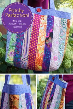 Brighten up your outfit and your day when you sew this fun, around-town tote bag featuring a vibrant array of fabrics from Kaffe Fassett's Classic Collection. Construct this beautiful bag with quick and easy strip sewing, pack it with your essentials and head happily out the door - all in a matter of hours.