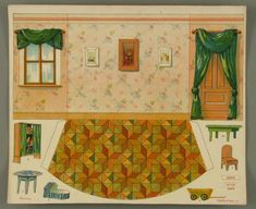 As advancements in technology made the printing process more efficient, publishers began to produce paper toys in mass quantities. In the late 19th and ear... Paper Furniture, Doll Furniture, Dollhouse Furniture, Diy Paper, Paper Art, Paper Crafts, Diy Crafts, Paper Doll House, Paper Houses
