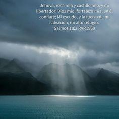 Jehová, roca mía y castillo mío, y mi libertador; Dios mío, fortaleza mía, en él confiaré; Mi escudo, y la fuerza de mi salvación, mi alto refugio. Salmos 18:2 RVR1960