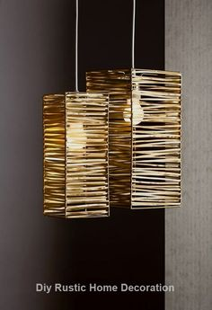 DIY Bamboo lampshades design and ideas .- DIY Bambus Lampenschirme Design und Ideen DIY bamboo lampshades design and ideas - Diy Home Crafts, Diy Home Decor, Make A Lamp, Lampshade Designs, Bamboo Crafts, Creation Deco, Room Lamp, Wooden Lamp, Lamp Shades