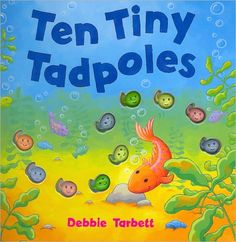 Ten Tiny Tadpoles by Debbie Tarbett is a rhyming counting book which introduces young children to the concept of tadpoles turning into frogs. Frog Theme Preschool, Frog Activities, Senior Activities, Spring Activities, Montessori Activities, Kindergarten Science Projects, Preschool Lessons, Frog Crafts, Pond Crafts