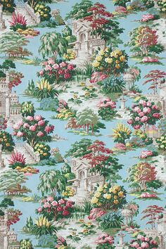 Vintage Home - 1930s Bernard Wardle French Garden Fabric.