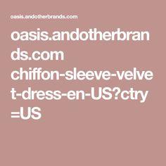 oasis.andotherbrands.com chiffon-sleeve-velvet-dress-en-US?ctry=US