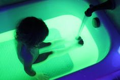 "Another pinner wrote, ""How to make your bath water glow and other totally awesome things to do with your kids.  (This website is amazing!!)"""