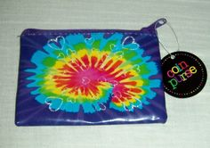 NEW Purple Tie Dye Hearts Coin Purse FREE SHIPPING $3.00