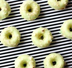 Mini Pistachio Almond Donuts - Baked!
