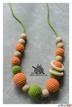 Bead Crochet, Crochet Baby, Crochet Necklace, Beaded Necklace, Nursing Necklace, Karen, Crochet Patterns, Sewing, Knitting