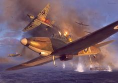 Finally watching Dunkirk today looking forward to it. Hopefully it lives upto the hype! Dunkirk Air Combat Archive - 02 By Piotr Forkasiewicz Ww2 Aircraft, Fighter Aircraft, Military Aircraft, Air Fighter, Fighter Jets, 1957 Chevy Bel Air, Aircraft Painting, Airplane Art, Battle Of Britain