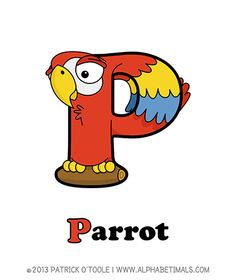 Parrot - Alphabetimals make learning the ABC's easier and more fun! http://www.alphabetimals.com