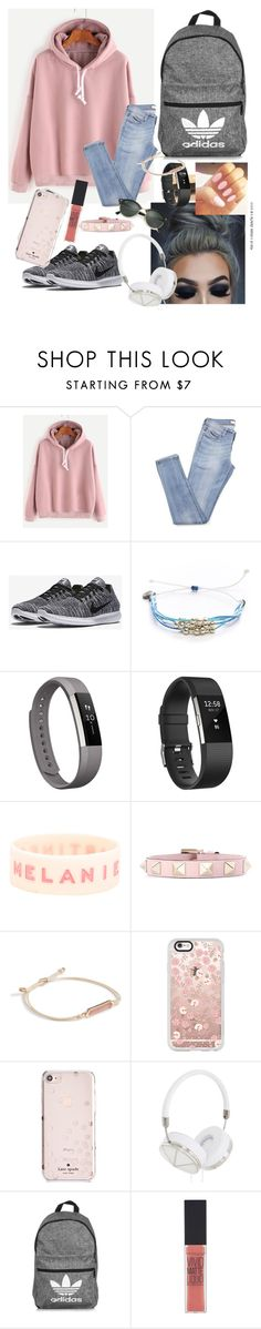 """Lazy day"" by caraline60 ❤ liked on Polyvore featuring NIKE, Pura Vida, Fitbit, Valentino, Vera Bradley, Casetify, Kate Spade, Frends, adidas and Maybelline"