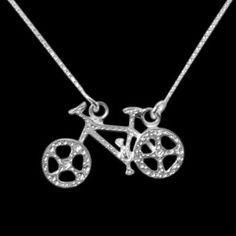 Gargantilha de Prata Bicicleta - 26502