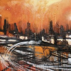Busy Sunset #artwork #painting