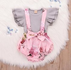 Retro clothes for little girls, Cute frill design, Sleeveless t-shirt, matched with elastic high waist ruffle trim floral skirt-shorts bottoms and a bow at waist.Snap diaper closure covered button,conveniently for changing a diaper.Main fabric Cotton, Light weight, Soft and Comfy two pieces vintage floral outfits set gift. Toddler Girl Outfits, Baby Outfits, Kids Outfits, Newborn Girl Outfits, Easter Outfits Baby Girl, Baby Girl Fashion, Kids Fashion, Babies Fashion, Toddler Fashion