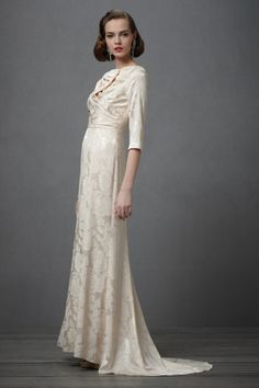 Pretty modest Wedding dress (not that I'll need it, but maybe one of my friends will) - Cassini's Muse Gown BHLDN - on sale for $800