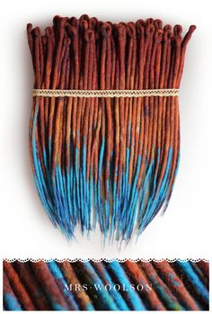 Wool dreadlocks rusty turquoise ready for by BullfinchHandmade #woolies #wooldreadlocks #wooldreads #dreadlocks #dreads  #dreadehtensions #tribal #african #ethno