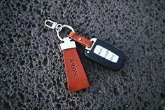 Handmade Key Ring Italian High Quality Buttero Leather (Cowhide) Made in Korea Key Rings, Korea, How To Make, Leather, Handmade, Crafts, Key Fobs, Hand Made, Manualidades
