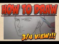 Lezioni di disegno - Viso di Tre Quarti - YouTube