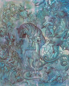 Excerpt of a new work  (the other half posted 2 days ago) #chinesezodiac #commission by jamesjeanart