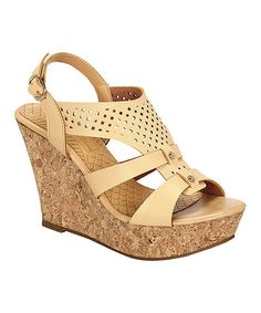 Another great find on #zulily! Nude & Tan Andrea Wedge Sandal #zulilyfinds