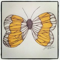 100 Butterflies in 100 Days, Day 8, Medium: Color Pencil