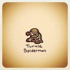 Turtle Spiderman Print