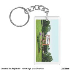 Usonian Inn keychain - street sign https://www.zazzle.com/usonianinn