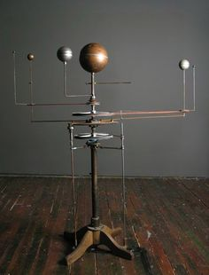 """Orrery I want one soo bad! Solar System Model, World Globes, Steampunk, Decoration, Celestial, Instruments, Old Things, Ceiling Lights, Sculpture"