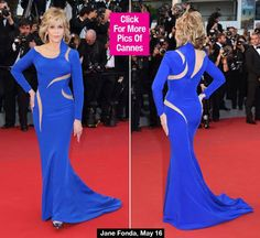 Jane Fonda, 77, Looks Ageless In Stunning Royal Blue Gown At Cannes