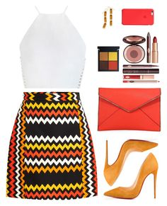 """Sin título #3897"" by mdmsb on Polyvore featuring moda, Christian Louboutin, Zimmermann, MSGM, Rebecca Minkoff y Charlotte Tilbury"