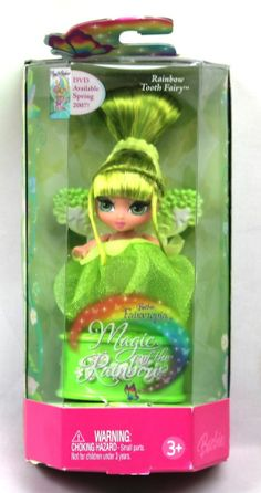*Barbie Fairytopia Magic of the Rainbow Rainbow Tooth Fairy Green 2006