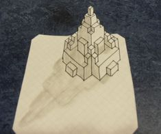 Hey guys! I'm back, doing my first post in a while: a tutorial on something cool to do on graph paper. You draw 3D models of buildings and stuff, and I think it's sorta a fun thing to do when bored. This instuctable might be more of a concept than a step by step, but it's still basic. Enjoy!I just made a Papercraft version of this. Head on over with this link and make sure to check it out!