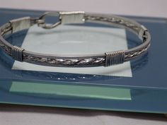 Sterling Silver Bracelet with Twister Sterling Pattern by SteinGemJewelry on Etsy