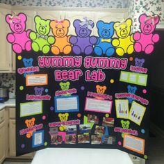 Yummy Gummy Bear Lab!!! LaraBeth and Caroline's science fair project.