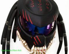 Custom Predator Motorcycle Helmet by PredatorHelmet on Etsy