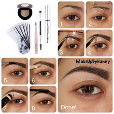 Eyebrow Tutorial using Anastasia Beverly Hills Brow Products (use stencils)..