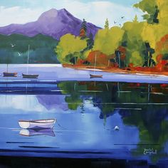 Daniel Campbell - The Ben from Loch Ard Limited Edition Print Impressionist Paintings, Bottle Painting, Bottles And Jars, Free Prints, Limited Edition Prints, Landscape Art, Giclee Print, Scotland, Gallery