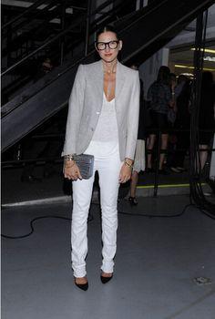 Blazer + white pants