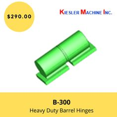 Kiesler Machine Inc. is an expert in the manufacturing of B-3000 barrel hinges made from hot rolled carbon steel material. Write a quote on carbon steel barrel hinges available with most door weight per pair of #hinges is 3000 lbs.   #B300BarrelHinges #BarrelHinges #CarbonSteelBarrelHinges #KieslerMachine #Hinge