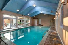 Contemporary Indoor swimming pool ideas