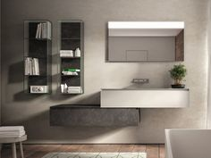 Arredo bagno completo in legno CUBIK N°11 by IdeaGroup