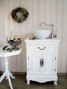 """Badunterschränke - """"Lou"""" Neuer Landhaus-Waschtisch  - ein Designerstück von Land-und-Liebe-Waschtische bei DaWanda"""