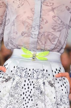 Fashion Week Spring 2014 #fluo detail