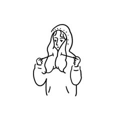 Illustration back - 일러스트레이션 Minimalist Icons, Minimalist Drawing, Minimal Drawings, Easy Drawings, Character Art, Character Design, Cartoon Art Styles, Art Sketchbook, Aesthetic Art